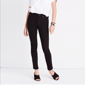"""New Madewell 9"""" Mid-Rise Skinny Jeans Stay Black"""